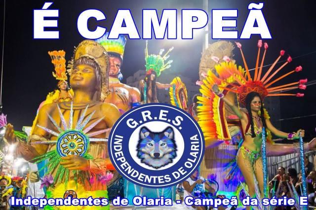 INDEPENDENTES DE OLARIA CAMPEÃ