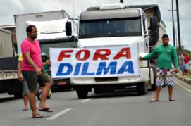 caminhoneiros contra dilma