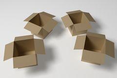 caixas vazias