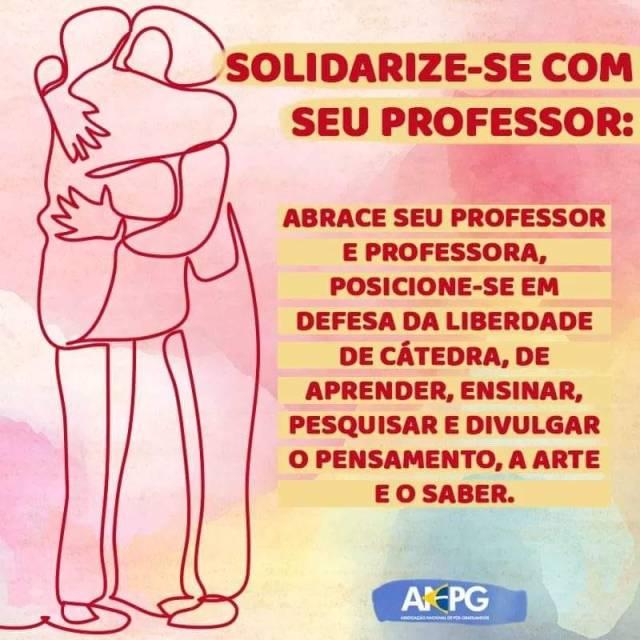 abrace seu professor