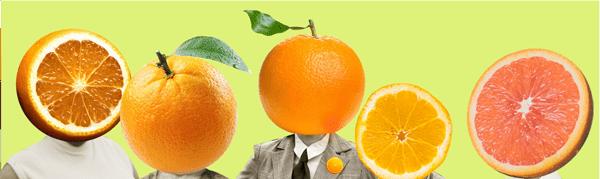 mulheres laranjas