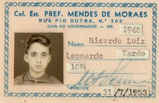 carteira de estudante 1965