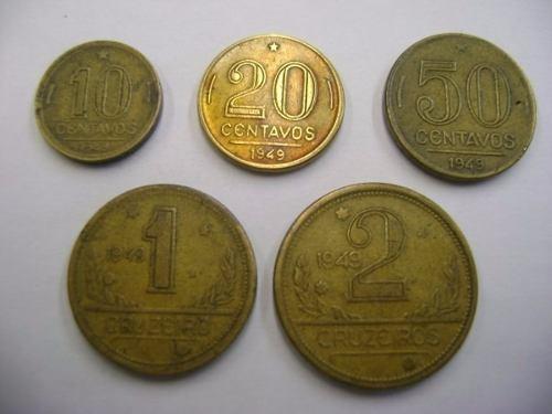 moeda de 1949 cruzeiro foto rccb coleções