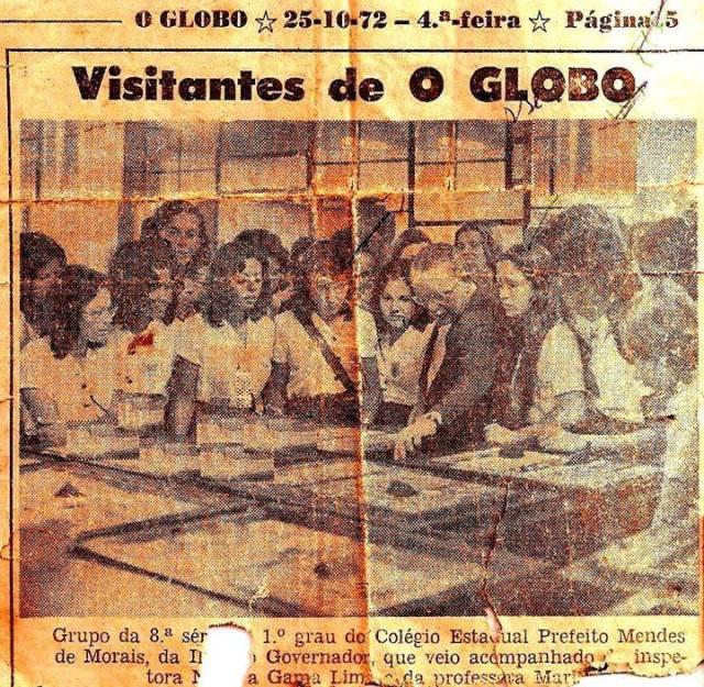 visita alunos cepmm ao o globo 1972