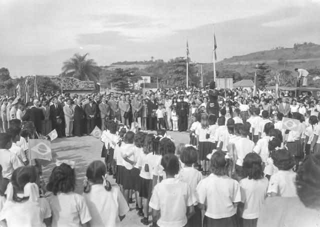 Visita Pres Dutra- 1948 - Pedra Fundamental CEPMM