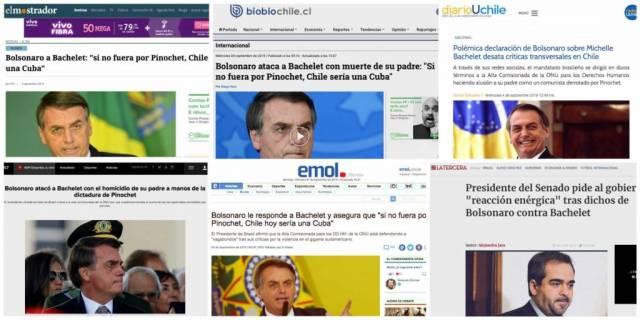 imprensa chilena reage